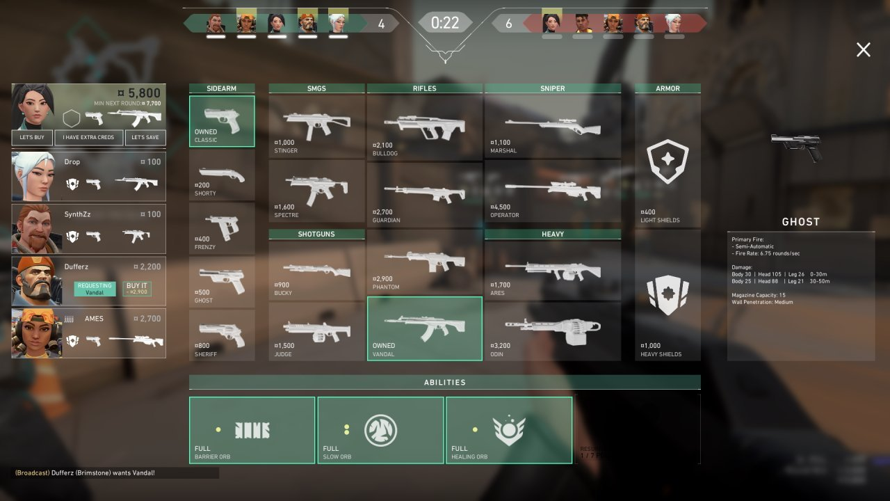 weapon interface valorant